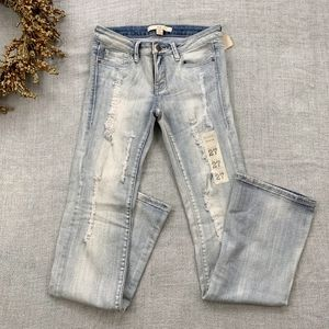 NWT Forever 21 Acid Wash Distressed Bootcut Jeans